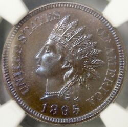 1895/895 Indian Head Cent/penny Rare Snow-pr5 Finest Known Blazer Ngc Pf 66 Bn