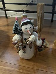 House Of Hatten Denise Calla 1999 Snowman With Broom And Toys No Box