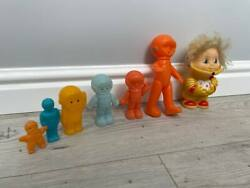 Family Of Space Pups Ussr Vintage Soviet Spaceman Doll Astronaut Toy Gagarin Set