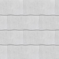 2 X 24in Horizontal Siding Shingle Fiber Textured Surface Primed Cement White