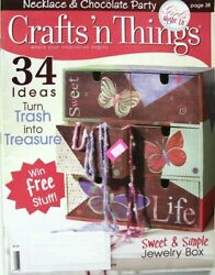 Crafts N Things Crafts Magazine Patterns Book 34 Ideas Jewelry Home Decor Misc