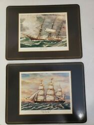 Vintage Pimpernel Set Of 6 Placemats Nautical Large 9x12 Clipper Ships England