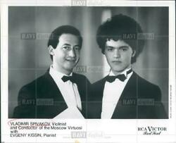 1989 Original Photo Of Vladimir Spivakov Evgeny Kissin