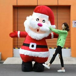 Halloween Santa Claus Inflatable Mascot Costume Cosplay Dress Outfits 2.5m Xmas
