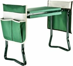 Folding Garden Kneeler And Seat Bench Yard Planting Stools+tool Pouch+ Waist Strap