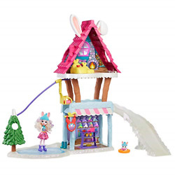 Enchantimals Hoppinand039 Ski Chalet With Bevy Bunny And Jump Dolls
