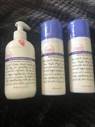 Victoria Secret Pink Organic Oat Extract Body Lotion Set Of 3 Used