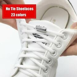 Elastic No Tie Semicircle Metal Lock Shoe Laces For Kids And Adult Sneakers And
