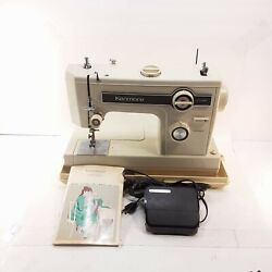 Vintage Sears Kenmore Portable Sewing Machine Model 148 15700 Tested 3with Case