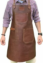 Leather Apron - Grill Apron, Bbq Apron, Woodworking Apron, Barber Apron