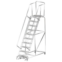 Ballymore Rolling Ladder Capacity 450 Lb Height 133 In. Stainless Steel