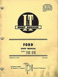 Ford 8000, 8600, 8700, 9000, 9600 And 9700 Tractor I+t Shop Manual Fo-37