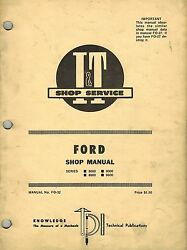 Ford 8000, 8600, 9000, 9600 Tractor I+t Shop Manual Fo-32