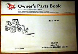 Jcb 506-36 Loadall Owner's Parts Manual 9800/7806 Issue 22
