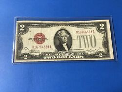 1928 D Red Seal 2 Two Dollar Bill...lot 28