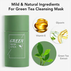 Cleansing Facial Mask Stick Eggplant Purifying Blackhead Acne Remover Green Tea