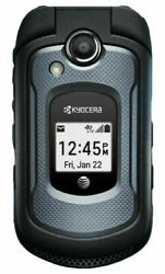 Kyocera Dura Xe E4710 Atandt Gsm 32gb Rugged Camera Flip Phone Duraxe Black