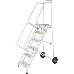 Ballymore Rolling Ladder Capacity 350 Lb Height 123 In Stainless Steel