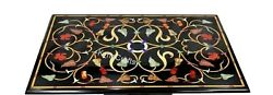 30 X 60 Inches Marble Restaurant Table Top Pietra Dura Art Dining Table For Home