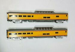 2 - Walthers 920-18205 Ho 85' Acf Dome Lounge Union Pacific 9005 Walter Dean