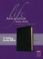 Nkjv Life Application Study Bible Large Print Black By Tyndale House Book The