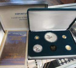 Olympic National Park Gold And Silver Coin Set Bald Eagle