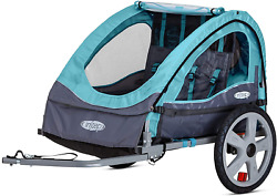 Instep Bike Trailer For Toddlers Kids Single And Double Seat 2-in-1 Canopy Ca