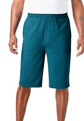 Kingsize Menand039s Big And Tall Lightweight Extra Long Shorts 3-pack