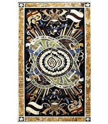 36 X 60 Inches Restaurant Table Top With Pietra Dura Art Dining Table For Home