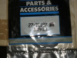 One New Oem 27-26187 Mercury Mark Outboard Water Pump Cover Lower Gasket