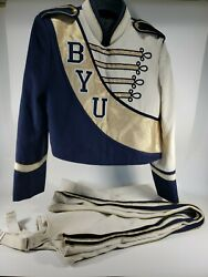 Vintage Brigham Young Byu University Marching Band Uniform Marching