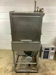 Working Hobart Am14 Commercial Dishwasher With Temp Booster - 3 Phase 208v