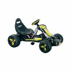Black Stealth Pedal Powered Go-kart - Great For Kids Ride On Toy 2-5 Yrs