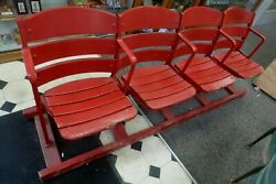 Crosley Fieldhome Of The Redsrow Of 4 Original Seats -pete Rosejohnny Bench