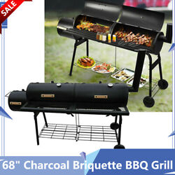 68 Outdoor Bbq Grill Charcoal Briquette Barbecue Pit With Adjustable Air-intake