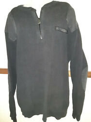 Harley Davidson Mens Thick Durable Sweater W/ Shoulder And Elbow Patches Sz Large
