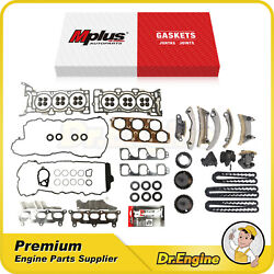 Head Gasket Set Timing Chain Kit Fit 07-08 Buick Allure 07-09 Cadillac Cts 3.6l