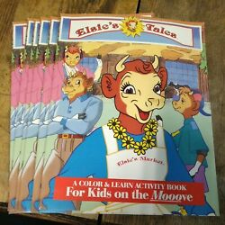6--vintage Bordens Elsieand039s Tale Coloring/activity Books--never Used--nos