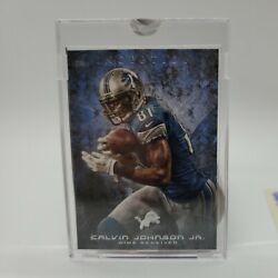 1 Of 1 Topps Inception Vault Calvin Johnson Blank Back With Coa Nfl Hall Of Fame
