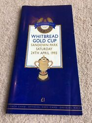 1993 Whitbread Gold Cup Race Card Hand Signed By Willie Carson And Jenny Pitman