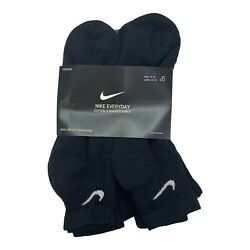 Nike Everyday Cotton Cushioned Ankle Training Socks Dri-fit 1 3 6 Pairs L 8-12