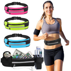 Waterproof Running Belt Fanny Pack Waist Pouch Outdoor Camping Hiking Zip Bag