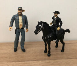 Wild Wild West 13cms Toy Action Figures General Mcgrath And James West And Horse