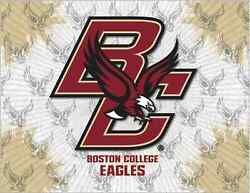Boston College Eagles Hbs Gray Gold Wall Canvas Art Picture Print