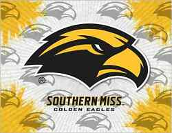 Southern Miss Golden Eagles Hbs Gray Wall Canvas Art Picture Print