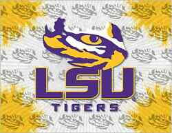 Lsu Tigers Hbs Gray Yellow Wall Canvas Art Picture Print