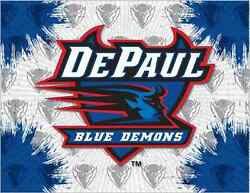 Depaul Blue Demons Hbs Gray Blue Wall Canvas Art Picture Print