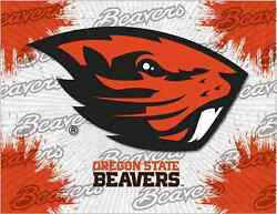 Oregon State Beavers Hbs Gray Orange Wall Canvas Art Picture Print