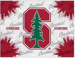 Stanford Cardinal Hbs Gray Red Wall Canvas Art Picture Print