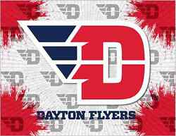 Dayton Flyers Hbs Gray Red Wall Canvas Art Picture Print